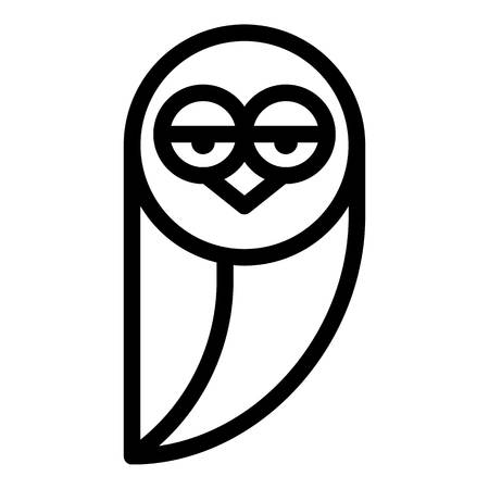 Tired owl icon, outline style