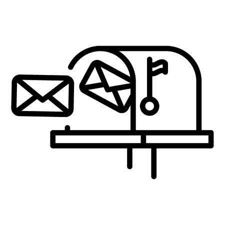 Mailbox letters icon, outline style