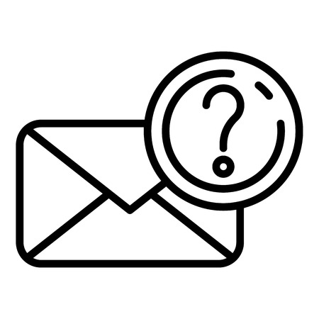 Unknown letter icon, outline style