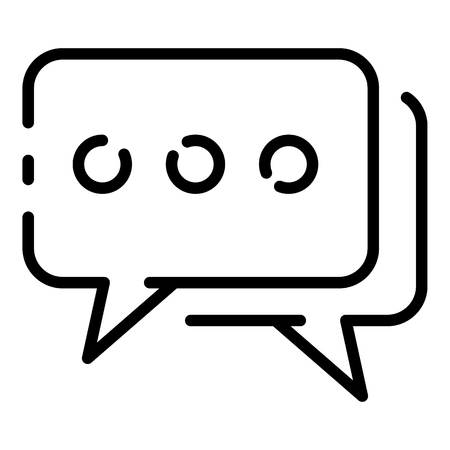 Chat bubbles icon. Outline chat bubbles vector icon for web design isolated on white background