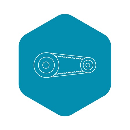 Mechanic belt icon, outline style
