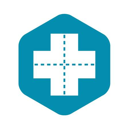 Icono de cruce, estilo simple