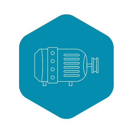 Electric motor icon, outline style