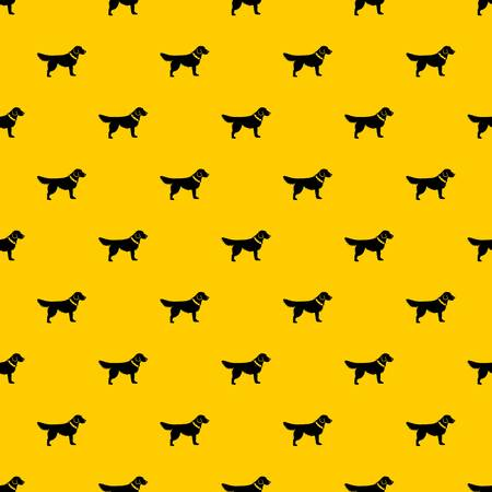 Dog pattern seamless vector repeat geometric yellow for any design Illustration