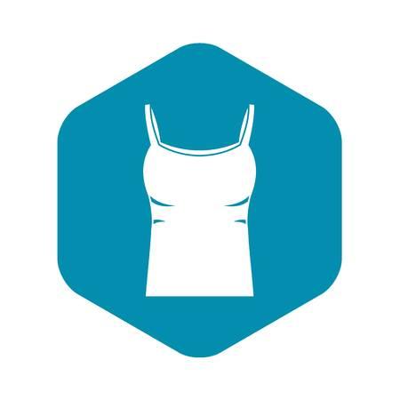 Blank women tank top icon, simple style Illustration