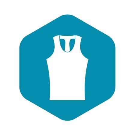 Sleeveless shirt icon. Simple illustration of sleeveless shirt vector icon for web Illustration