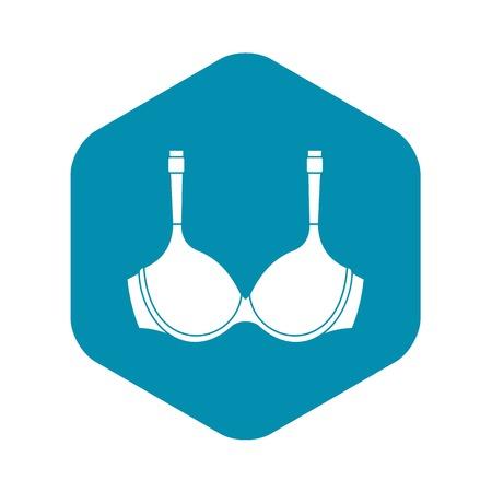 Lingerie icon, simple style Vetores