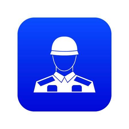 Soldier icon digital blue