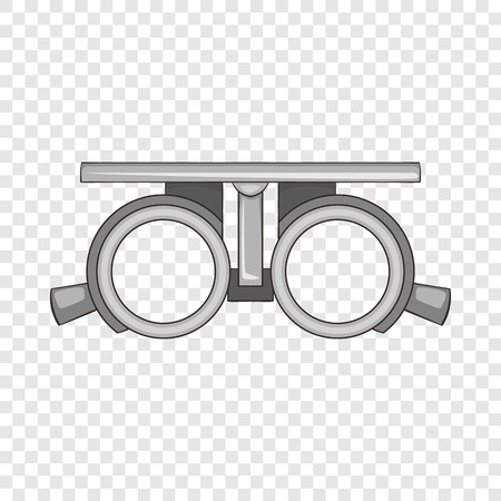 Frame for checking vision icon. Cartoon illustration of frame for cheking vision vector icon for web design