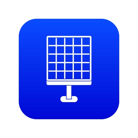 Solar panel icon digital blue for any design isolated on white vector illustration Ilustração