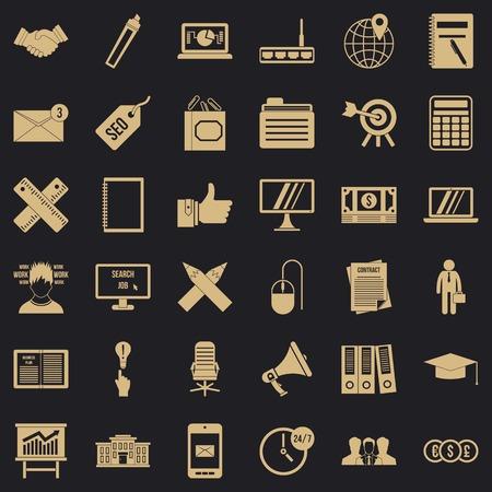 Deposit icons set, simle style