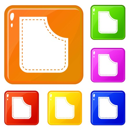 Abstract pocket icons set vector color