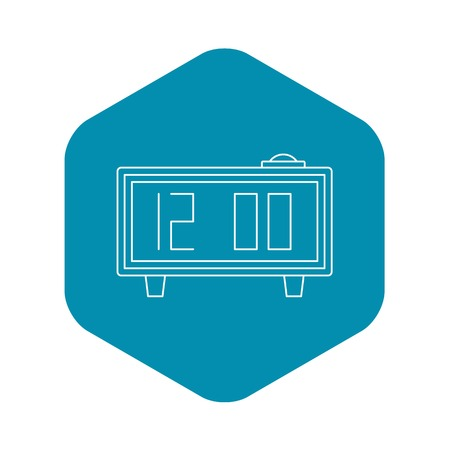 Alarm clock icon, outline style Ilustrace