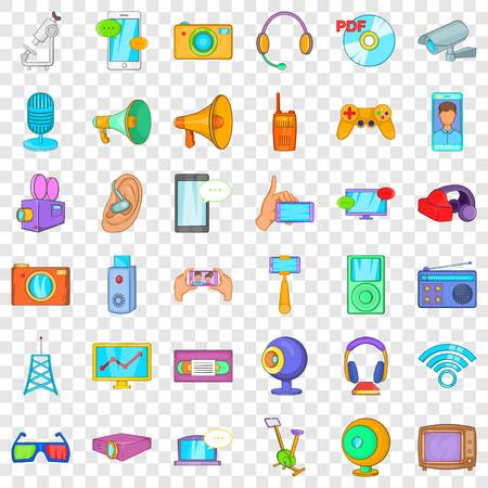 Good gadget icons set, cartoon style