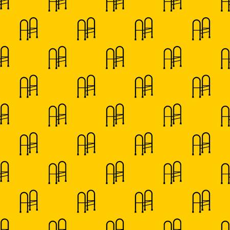 Walker pattern seamless vector repeat geometric yellow for any design Ilustrace