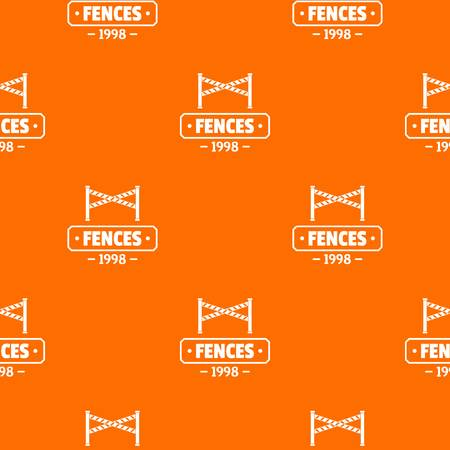 Fence police pattern vector orange Stock Illustratie