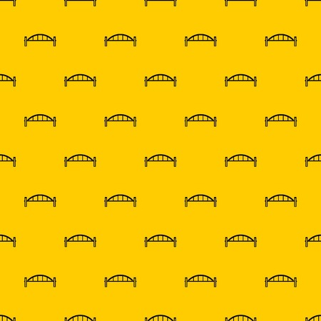 Bridge pattern seamless vector repeat geometric yellow for any design