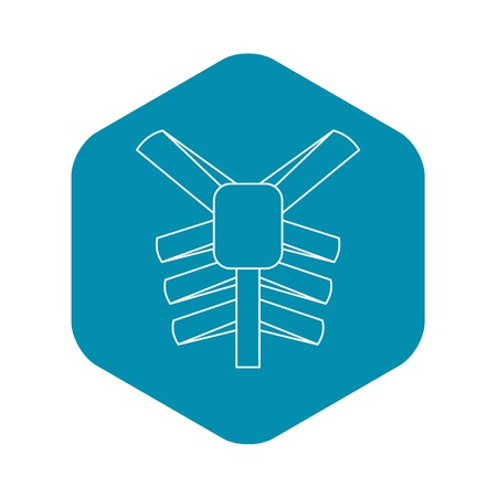 Human thorax icon, outline style