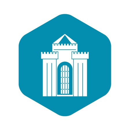 Medieval palace icon, simple style