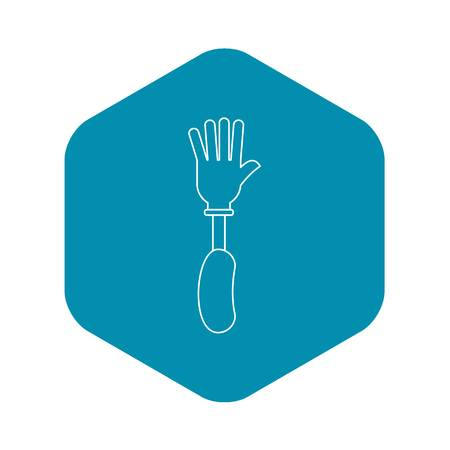 Prosthesis hand icon, outline style