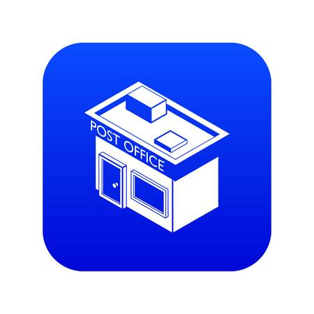Post office icon blue vector