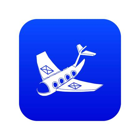 Air post delivery icon blue vector