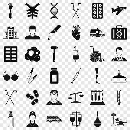 Fast aid icons set. Simple style of 36 fast aid vector icons for web for any design