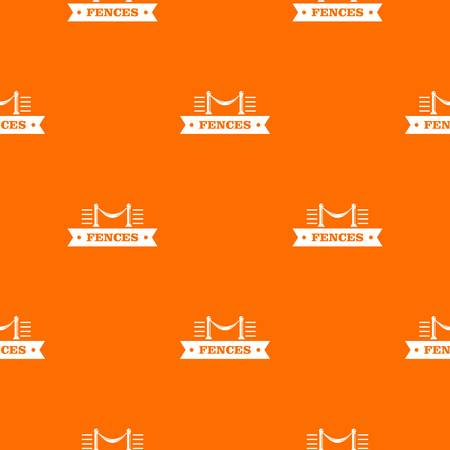Fence parade pattern vector orange for any web design best Vectores