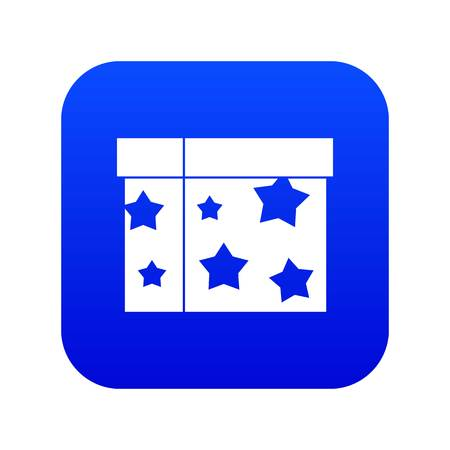 Box magician icon digital blue for any design isolated on white vector illustration
