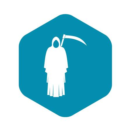 Death with scythe icon. Simple illustration of death with scythe vector icon for web
