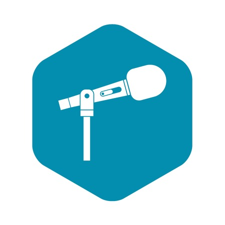 Microphone icon. Simple illustration of microphone vector icon for web