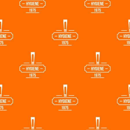 Hygiene pattern vector orange for any web design best