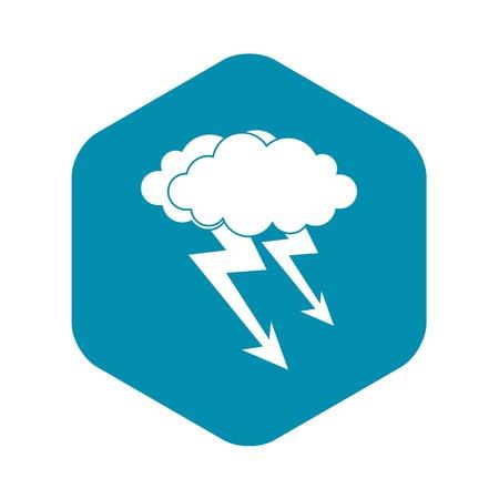 Lightning cloud icon. Simple illustration of lightning cloud vector icon for web Illustration