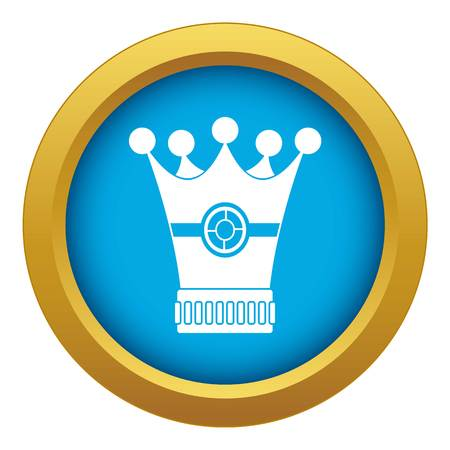 Medieval crown icon blue vector isolated on white background for any design Иллюстрация