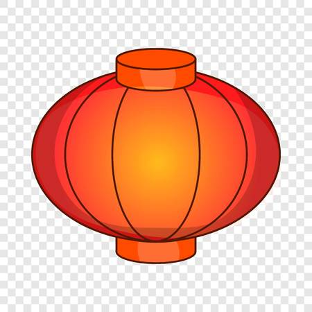 Sky lantern icon. Cartoon illustration of lantern vector icon for web design