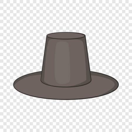 Traditional korean hat icon. Cartoon illustration of hat vector icon for web design Ilustración de vector
