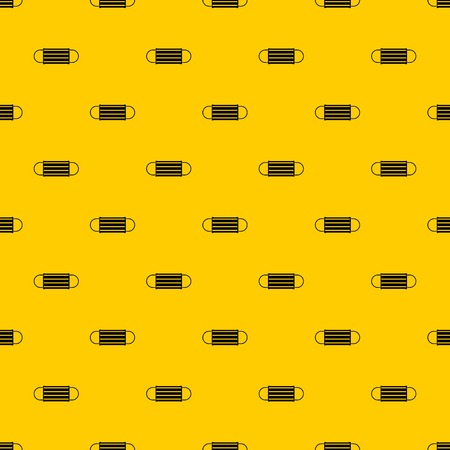 Disposable face mask pattern seamless vector repeat geometric yellow for any design  イラスト・ベクター素材