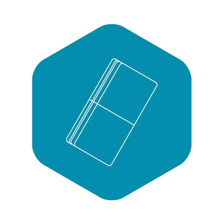 Eraser icon, outline style