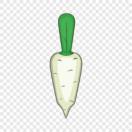 Daikon vegetable icon. Cartoon illustration of daikon vector icon for web design  イラスト・ベクター素材