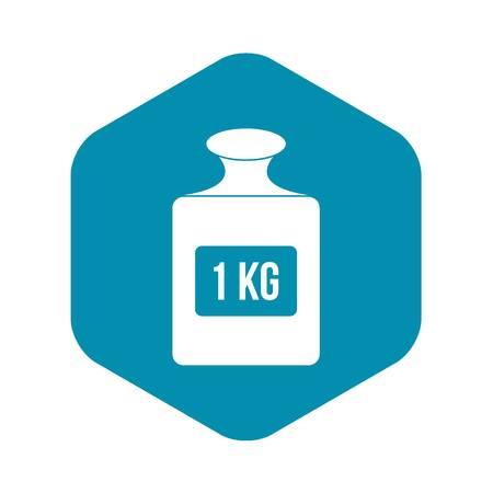 One kilogram weight icon. Simple illustration of one kilogram weight vector icon for web