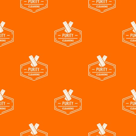 Cleaning pattern vector orange 向量圖像