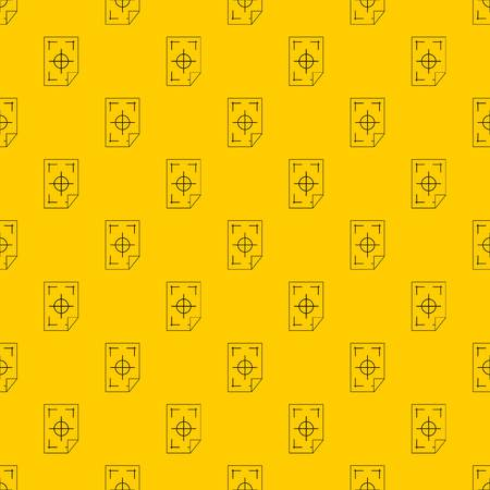 Printer marks on a paper pattern seamless vector repeat geometric yellow for any design Archivio Fotografico - 122213593