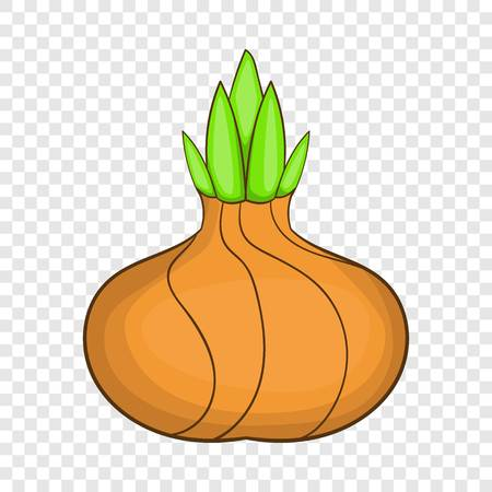 Onion icon. Cartoon illustration of onion vector icon for web design