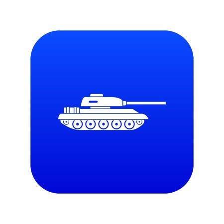 Tank icon digital blue for any design isolated on white vector illustration
