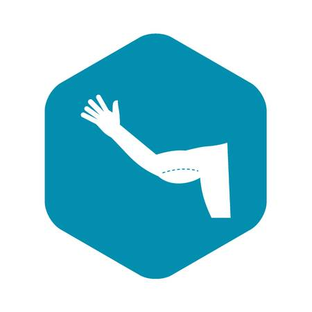 Flabby arm cosmetic correction icon, simple style