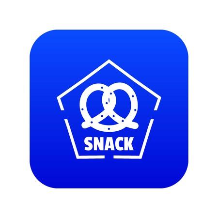 Snack icon blue vector Ilustração