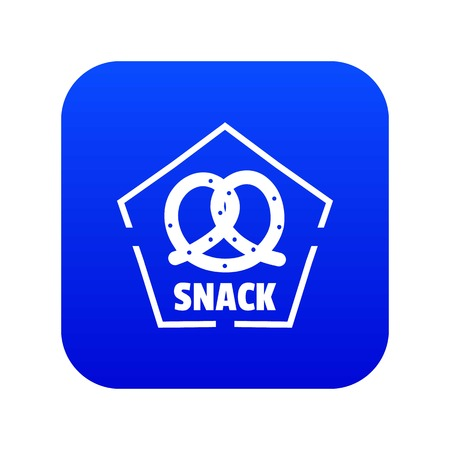 Snack icon blue vector Illustration