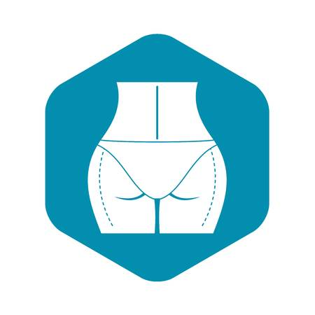 Woman buttocks prepared to plastic surgery icon Illustration