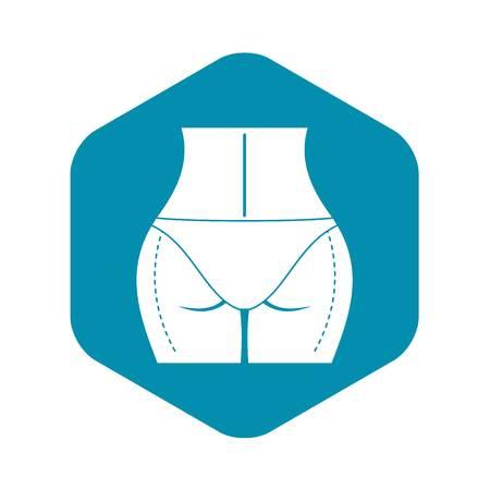 Woman prepared to plastic surgery icon