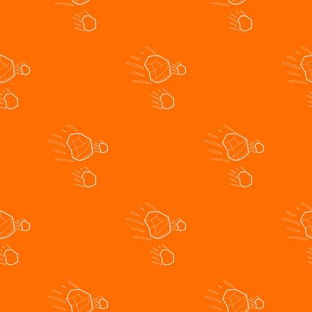 Throwing stones pattern vector orange for any web design best
